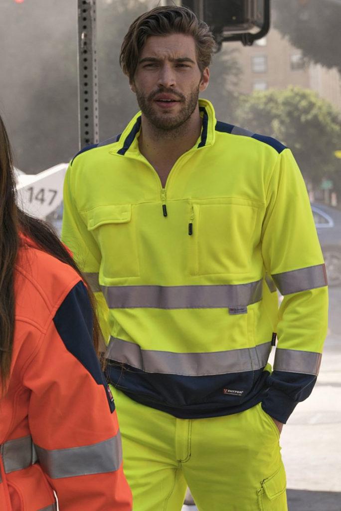 Felpa alta visibilità VISION Payper silcam italia Abbigliamento da lavoro, Antinfortunistica, Sicurezza sul Lavoro, DPI, Alta Visibilità