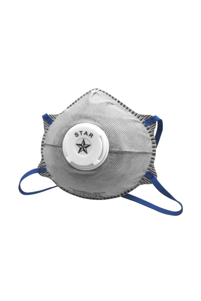 Mascherine a conchiglia FFP2 con valvola MASK 02 CARBON De Nittis silcam italia Abbigliamento da lavoro, Antinfortunistica, Sicurezza sul Lavoro, DPI, Alta Visibilità